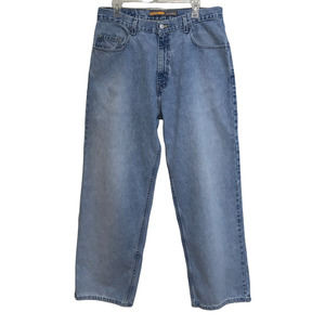 LEVIS Silvertab 34X31 Oversized Vintage 90s 100% Cotton Jeans Baggy High Rise